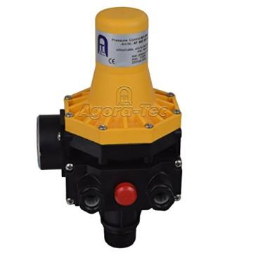 Agora-Tec Pumpen Druckschalter AT-DW-3 ohne Kabel zur Pumpensteuerung für Kreisel-, Tauch- Tiefbrunnenpumpen mit Betriebsdruck von 7 bar, AT 003 001 001 - 4