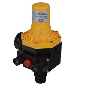 Agora-Tec Pumpen Druckschalter AT-DW-3 ohne Kabel zur Pumpensteuerung für Kreisel-, Tauch- Tiefbrunnenpumpen mit Betriebsdruck von 7 bar, AT 003 001 001 - 5