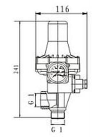 Agora-Tec Pumpen Druckschalter AT-DW-3 ohne Kabel zur Pumpensteuerung für Kreisel-, Tauch- Tiefbrunnenpumpen mit Betriebsdruck von 7 bar, AT 003 001 001 - 9