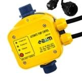 AWM Pumpen Druckschalter automatische Pumpensteuerung, verkabelt, Trockenlaufschutz, Rückschlagventil, Manometer, maximale 10 bar, AM-129 - 1