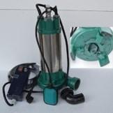 Fäkalienpumpe Schmutzwasserpumpe mit Schneidwerk IBO 2200 Leistung 2200Watt Spannung: 230V/50Hz Fördermenge: 24000l/h=400 l/min. Schwimmerschalter + Überspannungsschutz. - 1
