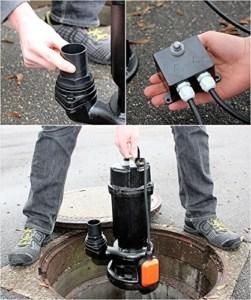 Abwasserpumpe einbauen
