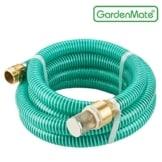 GardenMate® 7m Ansaugschlauch Ø 1 Zoll Messing Verbindung mit Rückschlagventil für Gartenpumpen (7m Länge) - 1