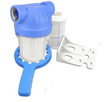 """GPV5M1"""". Vorfilter für Garten Pumpen und Hauswasserwerke 1L, Schmutzfilter Sandfilter. Pumpenvorfilter mit Filtereinsatz 5Zoll, Messing-Innengewinde 1 Zoll. NEUHEIT: Doppel O-Ring Dichtung. - 1"""