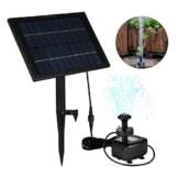 LEDGLE 5W Solarbrunnenpumpe mit Akku, Garten Wasserpumpe mit buntem Licht, effiziente Sonnenkollektor, 8 Düsen, geeignet für Garten Teich und Patio - 1