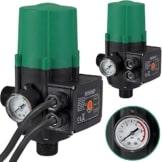 Monzana® Pumpensteuerung mit Baranzeige Druckwächter Druckschalter Hauswasserwerk Gartenbewässerung 10 bar mit Kabel - 1