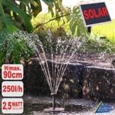 NEU! SOLAR TEICHPUMPE GARTEN BRUNNEN OASIS 250-1 LEISTUNGSOPTIMIERTE Solar WASSERSPIEL Teichpumpe 2,5 Watt, max. 250L/h max. 0,9m-Fontaenenhoehe fuer Gartenteich Solarbrunnen Springbrunnen mit STABILEM ALU-RAHMEN mit SOFORT-START-AUTOMATIK! - 1