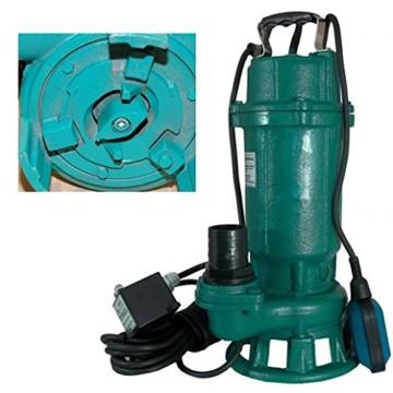 Profi Fäkalienpumpe mit Schneidmesser Leistung 1500Watt Fördermenge: 18000l/h=300 l/min Spannung: 230V/50Hz + Schutzschalter der die Pumpe vor Schäden schützt. - 2