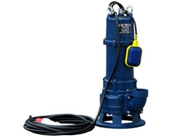 Rotek 1,5kW / 400V elektrische Schmutzwasser Tauchpumpe mit Schneidwerk und Stahlgehäuse - 1
