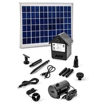 Solar Pumpe Springbrunnen NASP3 Solarpumpe mit Akku LED Teichpumpe - 1