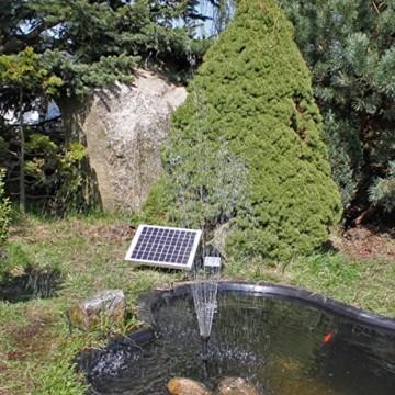 Solar Pumpe Springbrunnen NASP3 Solarpumpe mit Akku LED Teichpumpe - 2