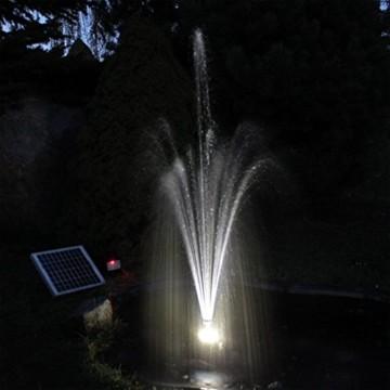Solar Pumpe Springbrunnen NASP3 Solarpumpe mit Akku LED Teichpumpe - 4