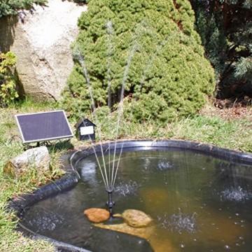 Solar Pumpe Springbrunnen NKASP2 Solarpumpe mit Akku und LED Teichpumpe - 2
