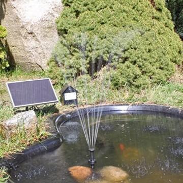 Solar Pumpe Springbrunnen NKASP2 Solarpumpe mit Akku und LED Teichpumpe - 3