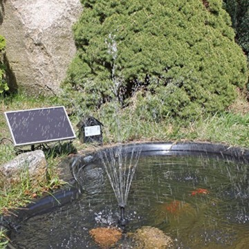 Solar Pumpe Springbrunnen NKASP2 Solarpumpe mit Akku und LED Teichpumpe - 4