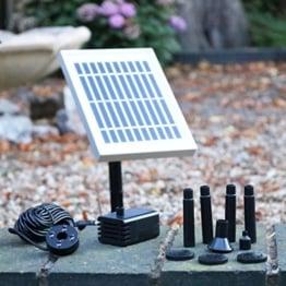 Solar Springbrunnen Pumpe mit Akku Backup – 2 W Solar Teich Wasser Pumpe Kit für Garten, Wasserfall, Vogeltränke von PK Green - 1