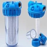 Vorfilter 1'' - 5000 L/h für Garten Pumpen / Hauswasserwerke / Schmutz filter / Sandfilter / Plus Wandhalterung und Filterschlüssel - 1