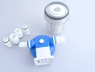 Vorfilter für Garten Pumpen und Hauswasserwerke Schmutzfilter Sandfilter Universal Anschluss 1/2 Zoll, 3/4Zoll, 1Zoll Pumpenvorfilter mit Filtereinsatz - 4