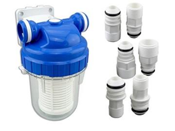 Vorfilter für Garten Pumpen und Hauswasserwerke Schmutzfilter Sandfilter Universal Anschluss 1/2 Zoll, 3/4Zoll, 1Zoll Pumpenvorfilter mit Filtereinsatz - 1
