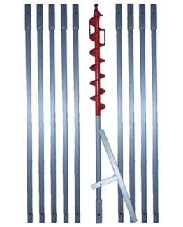 "10m Erdbohrer mit 70mm Bohrkopf ----""VERLÄNGERBAR""---- auch als Brunnenbohrer, Handerdbohrer, Erdlochbohrer, Brunnenbohrgerät, Pflanzbohrer, Zaunbohrer, Pfahlbohrer uvm. einsetzbar ! … - 1"