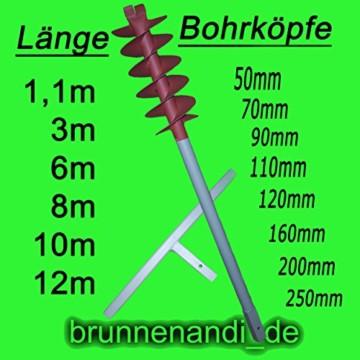 3m Erdbohrer mit 200mm Bohrkopf ----