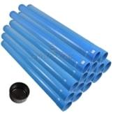 Agora-Tec® 3 Zoll DN 80 Brunnenrohr - Set (15 Meter) mit 13 Meter Vollwandrohr, Endkappe und 2 Meter Filterrohr mit einer (Schlitzweite: 0.75mm) - 1