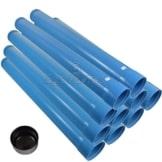 Agora-Tec® 4 Zoll DN 100 Brunnenrohr - Set (10 Meter) mit 8 Meter Vollwandrohr, Endkappe und 2 Meter Filterrohr mit einer (Schlitzweite: 0.75mm) - 1