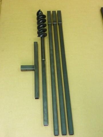 Erdbohrer Brunnenbohrer Erdlochbohrer Pfahlbohrer Handerdbohrer 90 mm 4 meter Bohrgerät f. Brunnen und Rammfilter - 1