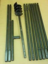 Erdbohrer Erdlochbohrer Brunnenbohrer Pfahlbohrer 150 mm 10 meter Handerdbohrer - 1