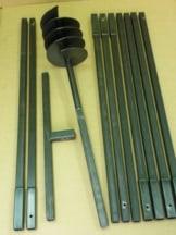 Erdbohrer Erdlochbohrer Brunnenbohrer Pfahlbohrer 200 mm 10 meter Handerdbohrer - 1