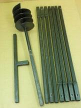 Erdbohrer Erdlochbohrer Brunnenbohrer Pfahlbohrer 200 mm 8 meter Handerdbohrer - 1
