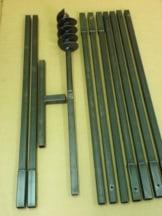Erdbohrer Erdlochbohrer Brunnenbohrer Pfahlbohrer Handerdbohrer 120 mm 10 meter Bohrgerät f. Brunnen und Rammfilter - 1