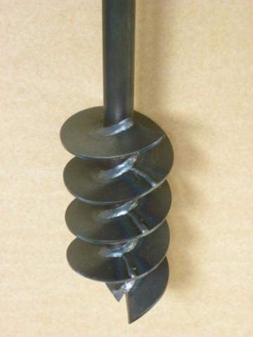 Erdbohrer Erdlochbohrer Brunnenbohrer Pfahlbohrer Handerdbohrer 120 mm 4 meter Bohrgerät f. Brunnen und Rammfilter - 2