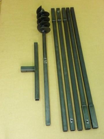 Erdbohrer Erdlochbohrer Brunnenbohrer Pfahlbohrer Handerdbohrer 120 mm 4 meter Bohrgerät f. Brunnen und Rammfilter - 1
