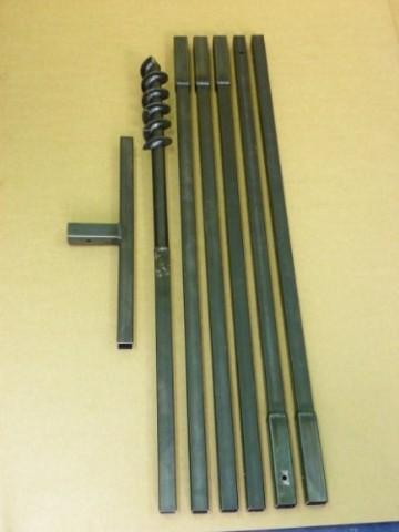 Erdbohrer Erdlochbohrer Brunnenbohrer Pfahlbohrer Handerdbohrer 70 mm 6 meter Bohrgerät f. Brunnen und Rammfilter - 1