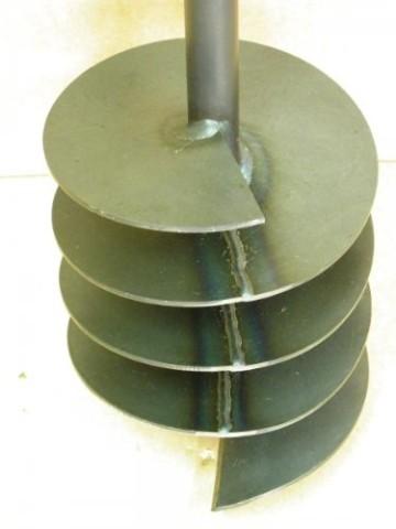 Erdbohrer satz Erdlochbohrer Brunnenbohrer Pfahlbohrer 200 mm 6 meter Handerdbohrer - 2