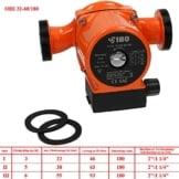 IBO Umwälzpumpe, sort. Heizungspumpe Pumpe Heizung Nassläufer Hocheffizienzpumpe Nassläuferpumpe Klasse A Stromsparende OHI32-60/180 - 1