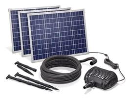 Solar Bachlaufset 150W Solarmodul 5000 l/h Förderleistung 3m Förderhöhe inkl. 5m Schlauch 32mm Bachlaufpumpe esotec pro Komplettset 101972 - 1