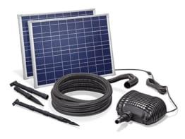 Solar Bachlaufset 70W Solarmodul 3400 l/h Förderleistung 3m Förderhöhe inkl. 5m Schlauch 32mm Bachlaufpumpe esotec pro Komplettset 101966 - 1