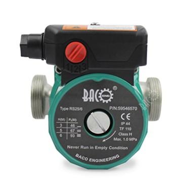 BACOENG Umwälzpumpe Heizungspumpe RS 25/6-130 Edelstahl Zirkulationspumpe für Zentralheizung 220V/ 50 Hz - 2