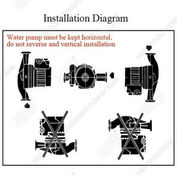 BACOENG Umwälzpumpe Heizungspumpe RS 25/6-130 Edelstahl Zirkulationspumpe für Zentralheizung 220V/ 50 Hz - 6