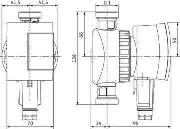 Wilo Pumpe Star-Z Nova C 230V Zirkulationspumpe für Trinkwasser mit Steckerzeitschaltuhr 4132762 - 4