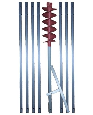 "8m Erdbohrer mit 160mm Bohrkopf ----""VERLÄNGERBAR""---- auch als Brunnenbohrer, Handerdbohrer, Erdlochbohrer, Brunnenbohrgerät, Pflanzbohrer, Zaunbohrer, Pfahlbohrer uvm. einsetzbar ! - 1"