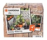 GARDENA 1265-20 city gardening Urlaubsbewässerung, Bewässerung wird täglich für 1 Minute über Transformator mit integriertem Zeitschalter aktiviert, bis zu 36 Topfpflanzen können automatisch bewässert werden - ideale Urlaubsvertretung für Ihre Pflanzen - 1