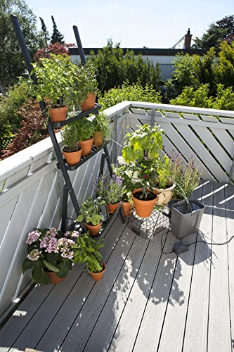 GARDENA 1266-20 city gardening Urlaubsbewässerung, bedarfsgerechte Pflanzenbewässerung über drei Verteiler mit unterschiedlichen Wasserabgabemengen, täglich wird 1 Minute vollautomatisch bewässert - mit 9 Liter Vorratsbehälter. - 2