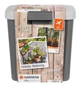 GARDENA 1266-20 city gardening Urlaubsbewässerung, bedarfsgerechte Pflanzenbewässerung über drei Verteiler mit unterschiedlichen Wasserabgabemengen, täglich wird 1 Minute vollautomatisch bewässert - mit 9 Liter Vorratsbehälter. - 1